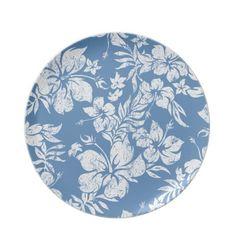 Hibiscus Pareau Melamine Plates