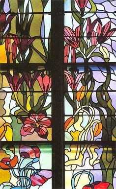 Wyspianski Stained glass in St. Francis of Assisi's Church, Krakow, 1902