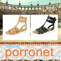 80cf142e Saca la gladiadora que llevas dentro con tus romanas de piel by Porronet.  Las chicas