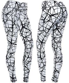 1fdf1099bd148 CompressionZ Women s Compression Pants (Tangled Black - XL) Best Full  Leggings Tights for Running