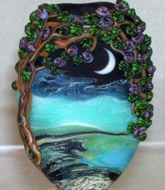 Hawaiian Moonlight - Delphi Stained Glass