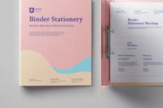 This is a stationery psd binder ring mockup to showcase your branding designs in style. Easily add your own graphics thanks...
