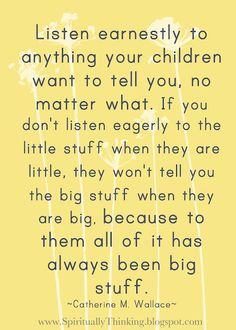 The older my daughter gets the more I find this statement true.