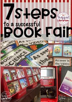 7 Steps to a Successful Book Fair - The Trapped Librarian Elementary Shenanigans, Elementary School Library, School Libraries, Library Skills, Library Lessons, Library Ideas, Library Inspiration, Reading Fair, Library Organization