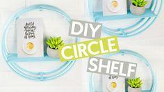 DIY CIRCLE SHELF | TUMBLR INSPIRED ROOM DECOR