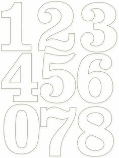 Tethered 2 Home Number Templates, Alphabet Templates, Alphabet Art, Alphabet And Numbers, Number Stencils, Free Stencils, Graffiti Lettering, Hand Lettering, Printable Numbers