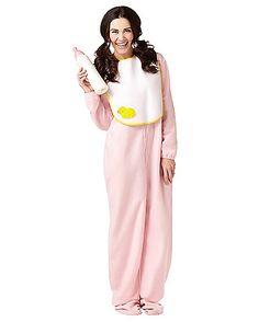 Adult Pink Jammies Costume - Spirithalloween.com