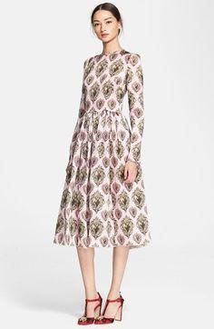 Dolce&Gabbana Sacred Heart Print Full Skirt Dress