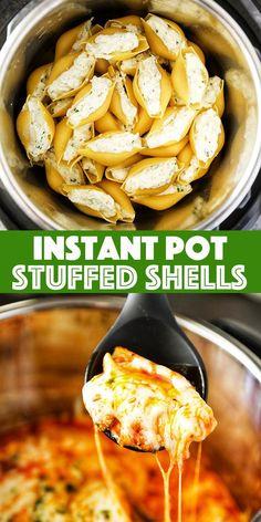 Instant Pot Pasta Recipe, Best Instant Pot Recipe, Instant Recipes, Instant Pot Dinner Recipes, Instant Pot Meals, Instant Pot Pressure Cooker, Pressure Cooker Recipes, Pressure Cooking, Stuffed Shells Recipe