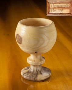 "Wood turned Goblet 4.5"" x 6.5"" $39 Arkansas wood made in NW Arkansas www.branchbuilt.com"