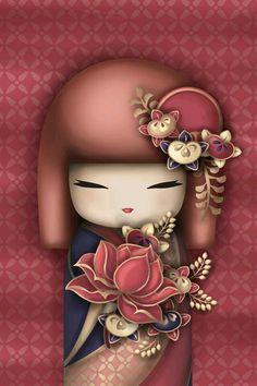 Kokeshi Rosa