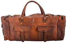 Rustic Leather Village Goat Vintage Leather Duffel Travel Gym Bag 241011 Inches Brown * You can find more details by visiting the image link. (This is an affiliate link and I receive a commission for the sales)