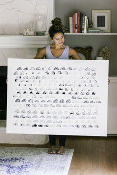 Potato Print Art DIY. — OY! KRISTEN Potato Print, Above Couch, Large Scale Art, Black Acrylic Paint, Small Canvas, Paint Drying, Annie Sloan Chalk Paint, White Paints, Potatoes