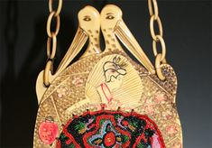 Geisha With Pine Trees : Antique Celluloid Purses Squirrels, Vintage Handbags, Asian Men, Geisha, Crane, Egyptian, Tea Party, Trees, Purse