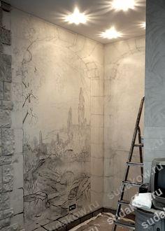 набросок роспись стен рисунок