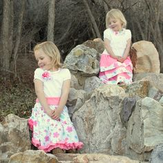 3 Easter Dresses - Girls Easter Dresses - Matching Easter Dress - Coordinating Easter Oufit - Matching Spring Dresses - Coordinating Picture by thebluekeystone on Etsy Girls Easter Dresses, Little Girl Dresses, Girls Dresses, Flower Girl Dresses, Spring Dresses, Personality Tests, Trending Outfits, Wedding Dresses, Pictures