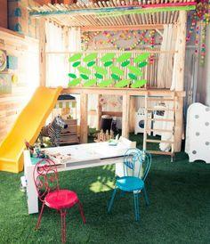 kinder spielplatz zu hause basteln 20 lustige ideen haushalt pinterest kinderzimmer. Black Bedroom Furniture Sets. Home Design Ideas