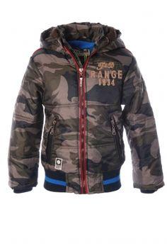 Tumble 'n dry winterJas met camouflage print. Fashion for boys www.koflo.nl. Jongenskleding.