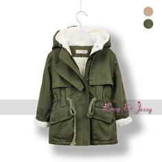 Berber Fleece LiningTrench Coat Hooded For Toddler Baby Girls Outerwear Coats For Winter Infant Kids Children Free Shipping