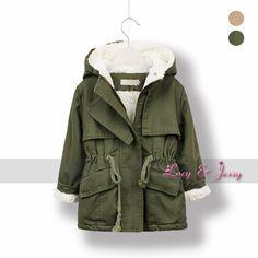 Berber Fleece LiningTrench Coat Hooded For Toddler Baby Girls Outerwear Coats For Winter Infant Kids Children Free Shipping