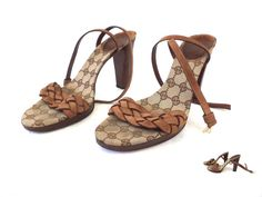 GUCCI Designer Women's Heels Shoes Sandals size EU 39.5, Made in Italy #Gucci #StrappyAnkleStraps #Party
