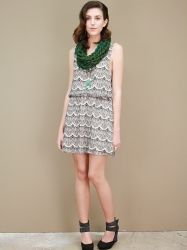 far and away lace print dress