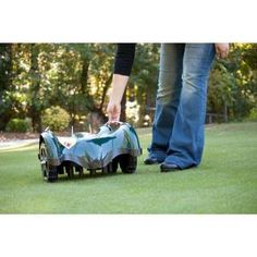 LawnBott, 10 in. Battery Powered Electric Robot Lawn Mower, LB1500 SpyderEVO at The Home Depot - Mobile