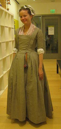 Virginia cloth dress anglaise