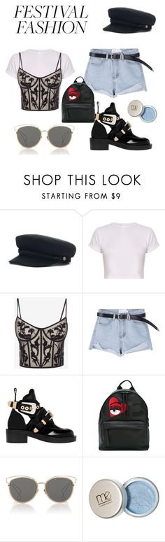 """Festival fashion"" by petronella-carling ❤ liked on Polyvore featuring Alexander McQueen, Balenciaga, Chiara Ferragni and Christian Dior"