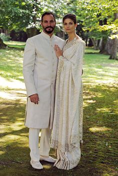Prince Rahim and Kendra wed in a picturesque service in the grounds of the Château de Bellerive, overlooking the shores of Lake Geneva in Switzerland.