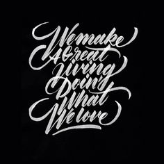Beautiful Hand Drawn Lettering & Calligraphy Designs by Ricardo Gonzalez Typography Alphabet, Typography Layout, Creative Typography, Calligraphy Alphabet, Vintage Typography, Typography Quotes, Typography Inspiration, Typography Poster, Bold Typography