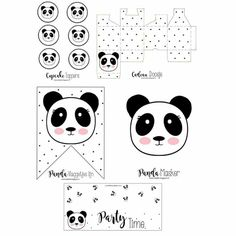 Panda Themed Party, Panda Birthday Party, Panda Party, Bear Birthday, Panda Love, Cute Panda, Panda Baby Showers, Panda Nursery, Panda Painting