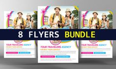 8 Corporate Business Flyers Bundle by Business Templates on @creativemarket