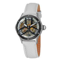 Stuhrling Original Women's 5AT2.1215P10 Classic Alpine Girl Automatic Skeleton White Watch