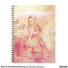 Beautiful Alice in wonderland notebook Alice In Wonderland, Notebook, Fantasy, Beautiful, Art, Art Background, Kunst, Fantasy Movies, Performing Arts