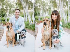 2014_Phuong and Stephen Engagement Shoot | Dear Darling Photography | Nature | Trees | Ladera Ranch | Couples Shoot | dogs