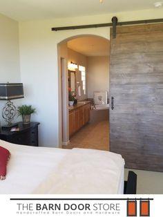 Master Bedroom Entryway barn doors for bathrooms! another custom made barn door for a