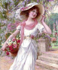 Emile Vernon -The Flower Garden - Pictify - your social art network