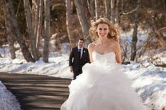 Winter Wonderland - Helena Cox and Paul Charman never had any doubt that their wedding would be smack in the middle of a Whistler winter. Winter Weddings, Whistler, Winter Wonderland, Middle, Wedding Dresses, Fashion, Bride Dresses, Moda, Bridal Gowns