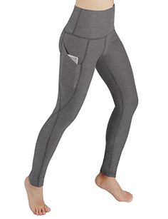 Neonysweets Women s Workout Leggings With Pocket Running Yoga Pants ... 58f46641948