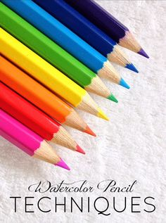 How to use watercolor pencils: an easy and fun way to make your own beautiful art! SO much easier than using a paintbrush!