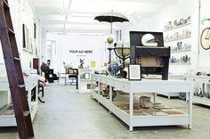 Partners  Spade, NYC || Gallery and studio - love the white and open feel.