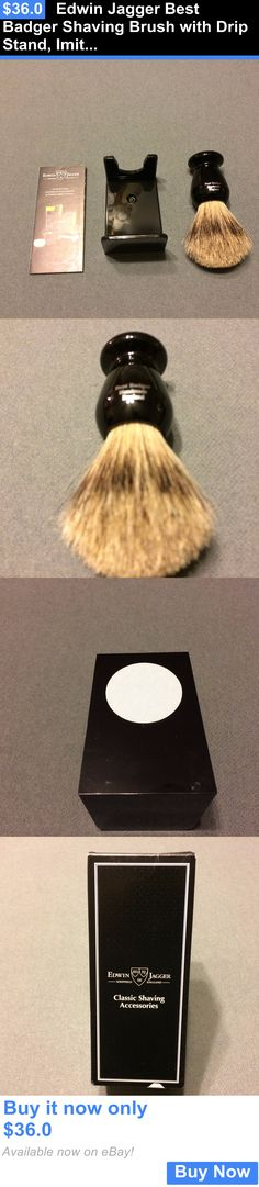 Shaving Brushes and Mugs: Edwin Jagger Best Badger Shaving Brush With Drip Stand, Imitation Ebony, Medium BUY IT NOW ONLY: $36.0
