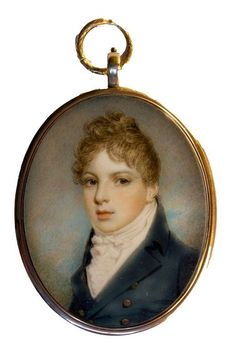A handsome young Gentleman by Samuel Shelley circa 1810
