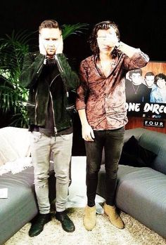 """I can't see, Liam!!""  "" What, Harry? I can't hear you!"""