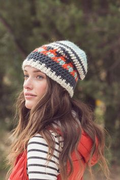 Bear Mountain Crocheted Hat: Four Colors Pattern Download
