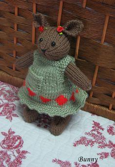 Etsy の Bunny      Hand knitted bunny girl doll by dollsandbunnies