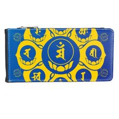 Buddhism Religion Buddhist Yellow Blue Sanskrit Character Figure Round Lotus Illustration Pattern Multi-Card Faux Leather Rectangle Wallet Card Purse #Purse #Buddhism #Wallet #Religion #Multi-FunctionPurse #Buddhist #BlackPurse #Yellow #CardPurse #Blue #CardWallet #Sanskrit #Multi-Card #Character #Figure #Round #Lotus