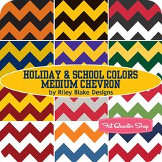Holiday and School Colors Medium Chevron Yardage Riley Blake Designs