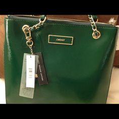 "Spotted while shopping on Poshmark: ""✅ 4X HOST PICKAUTHENTIC DKNY green tote NWT""! #poshmark #fashion #shopping #style #DKNY #Handbags"